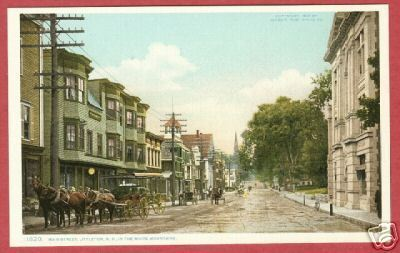 Littleton NH White Moutainns Main St Postcard BJs