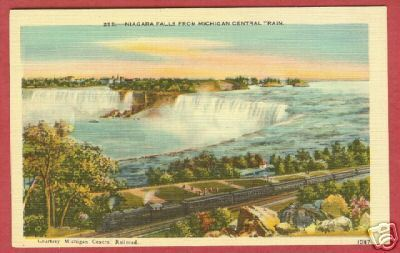 Michigan Central Train MI Niagara Falls Postcard BJs
