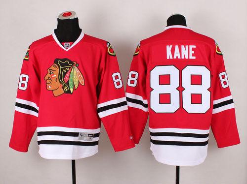 Number 88 Patrick Kane Jerseys Chicago Blackhawks red t shirts for sale  USA