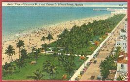 Miami Beach FL Postcard Lummus Park Ocean Dr Linen BJs - $6.00