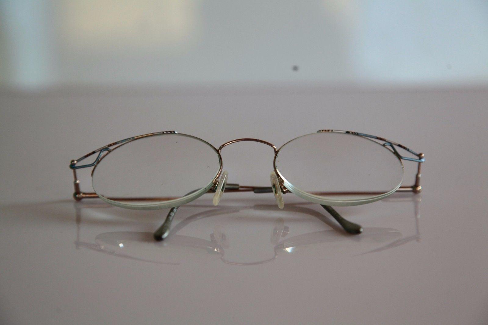 EBM Eyewear, Gold Half Rim Frame,  RX-Able Prescription Lenses. Germany