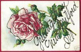 NEW MILFORD ILLINOIS Greeting Floral Glitter PC IL - $6.00