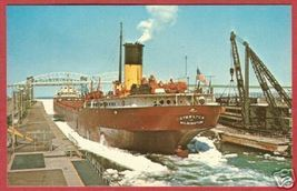Soo MI Locks Steelton Freighter Wilmington Postcard BJs - $6.00