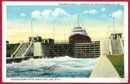Soo Michigan Steamer Farrell Locks Pittsburgh Ss Co - $6.00