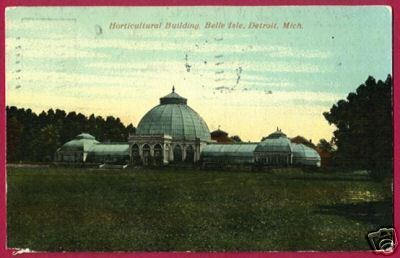DETROIT MICHIGAN Belle Isle Horticultural Bldg 1913 MI