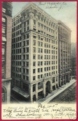 Primary image for CHICAGO ILLINOIS National Life Bldg 1907 UDB IL