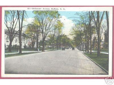 Primary image for BUFFALO NEW YORK NY Delaware Avenue Mailbox Cars 1931