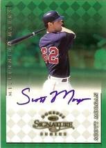 1998 donruss signature autograph scott morgan baseball card indians - $9.99