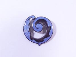 Vintage Margot De Taxco Blue Enamel Mexican Sterling Silver Brooch #5384 - $347.00