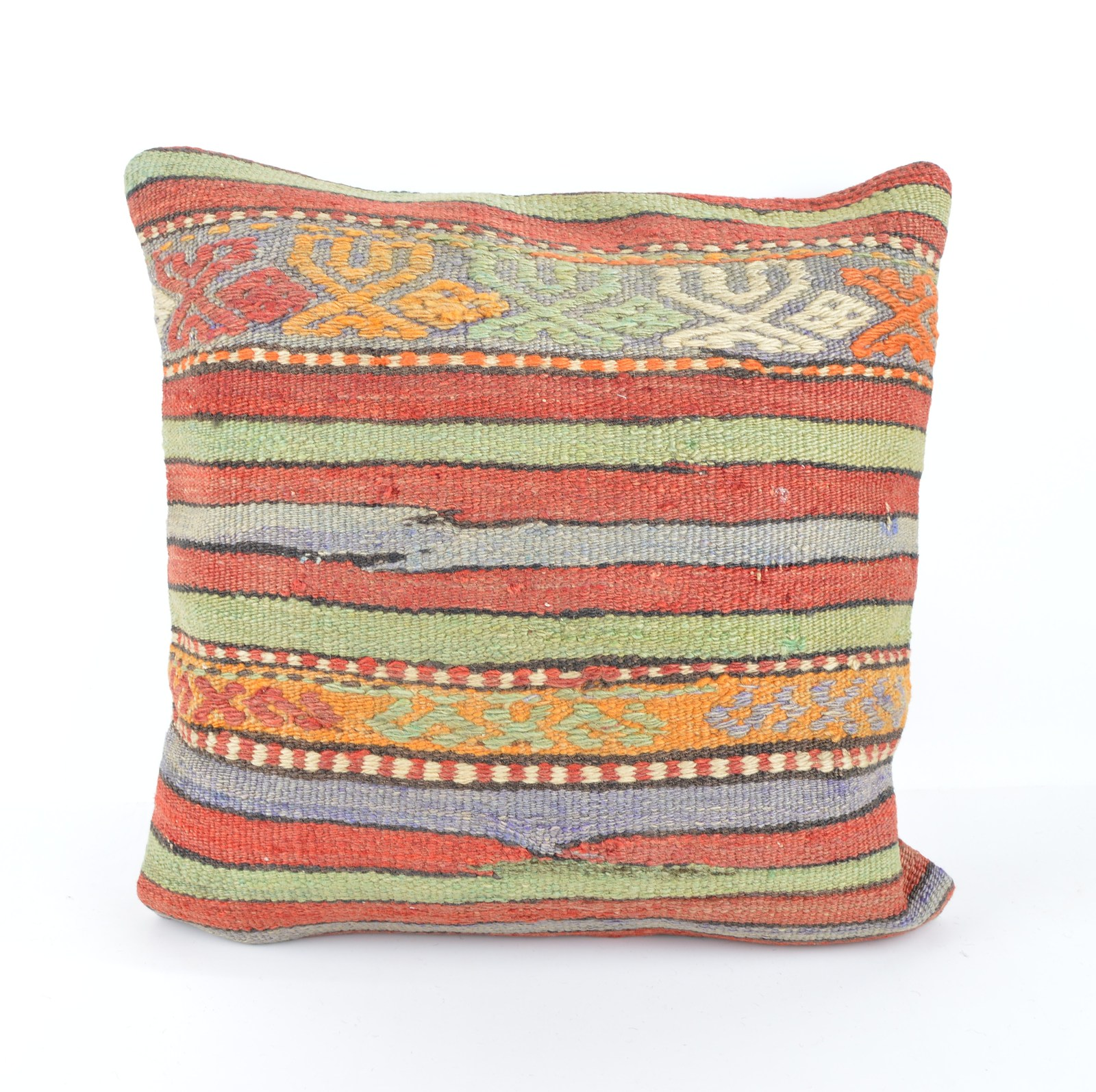 Throw Pillow Ethnic,Kilim Pillow Cover, BohemianTribal Cushion 40x40 Vintage - Pillows