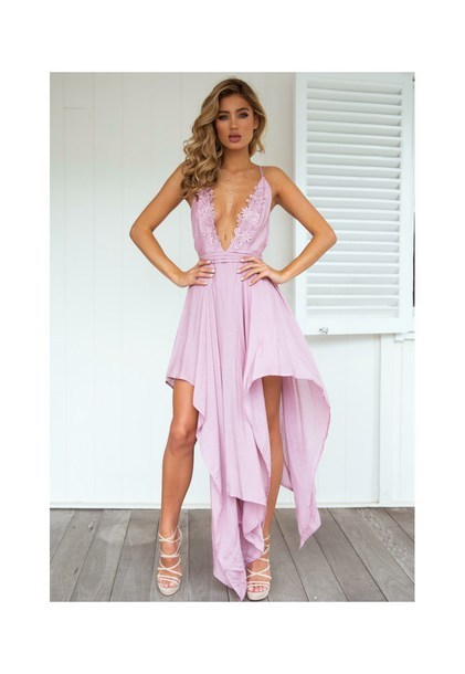 asymmetrical prom dress v-neck applique sleeveless party evening dress,HH021