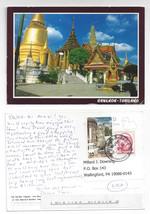 Bangkok Thailand Golden Pagoda Emerald Buddha Temple 1999 Postcard stamp... - $4.99