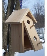 Double nests birdhouse.(REAL}Cedar,with Clean-out, - £26.97 GBP