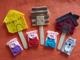 Three Little Pigs Finger Puppets - $12.99