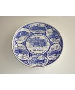 Vintage Blue White Covered Bridges of New England Souvenir Plate - $9.95
