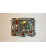 EMT Belt Buckle Bergamot Brass Works Enameled USA Vintage 1986 Ambulance... - $9.95