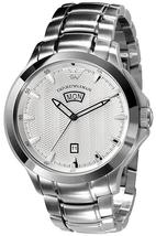 EMPORIO ARMANI AR0633 ANALOGUE STAINLESS MENS SILVER DIAL WATCH - $224.38