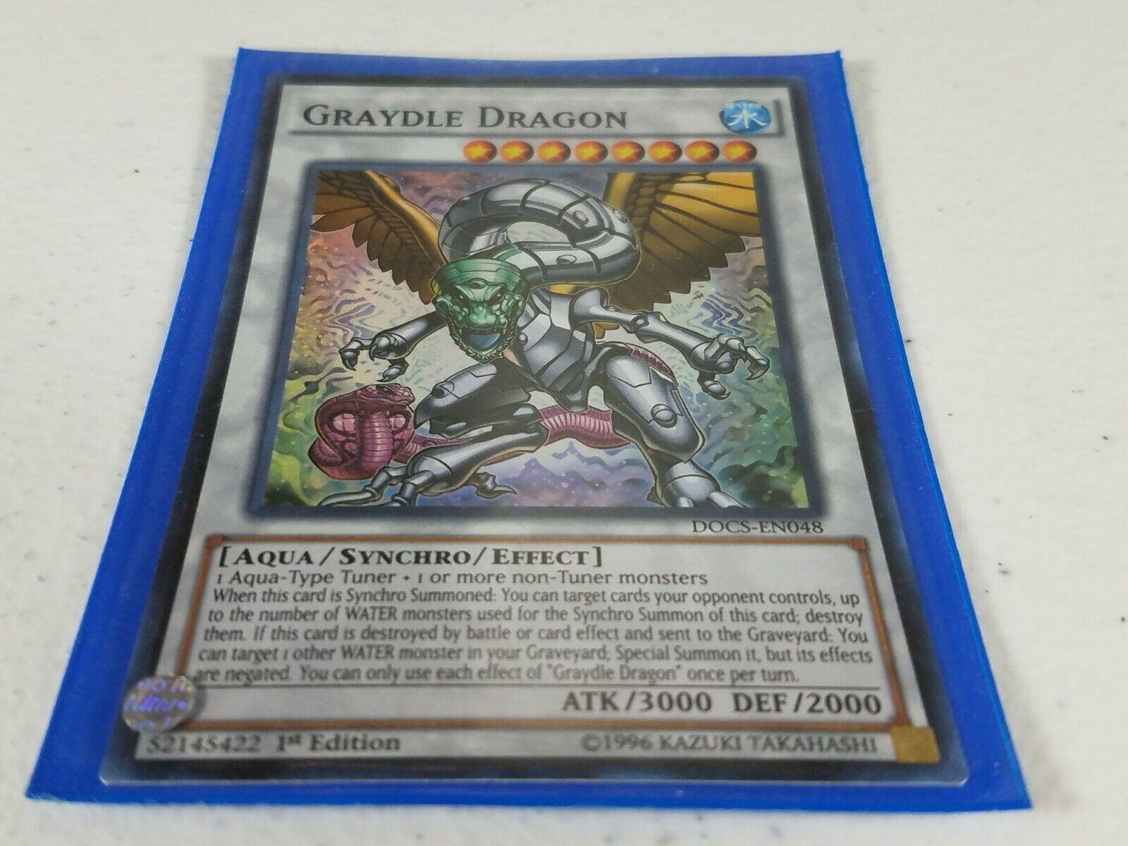 Yu-gi-oh! Trading Card - Graydle Dragon - DOCS-EN048 - Super Rare - 1st Ed.