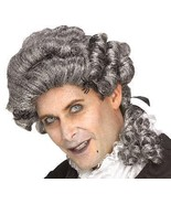COLONIAL STYLED MENS WICKED COURT BLACK & WHITE WIG - $20.00