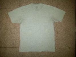 Kirkland Signature Casual Blank Plain Cotton Polyester Gray Tee T-Shirt Large L - $4.99