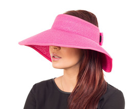 Ladies Women Large Visor Wide Brim Straw Hat - Sun UV Protection - SUMME... - ₨947.24 INR