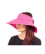 Ladies Women Large Visor Wide Brim Straw Hat - Sun UV Protection - SUMMER FUN - $14.75