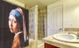 Carnation Home Fashions Girl with the Pearl Earring Fabric Shower Curtain - $22.50
