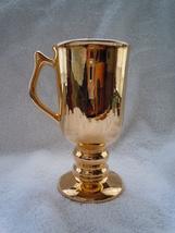 Vintage Hall China Golden Glo Irish Coffee Mug 22k Gold Finish  - $1.99