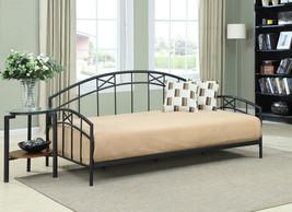 Dorel Asia Metal Twin Daybed Black Mattress Bedroom Furniture Dorm Kids ... - $212.82