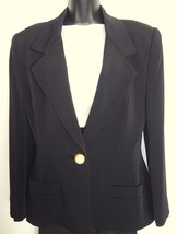 Anne Klein One Button Black Blazer New Nieman Marcus  - $100.00
