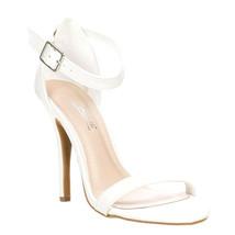 Jessica Womens Strappy White High Heel Sandal  - $39.99
