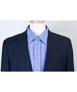 BROOKS BROTHERS 346 MEN'S BLAZER JACKET SPORT COAT CHARCOAL GRAY STRIPED... - $39.19