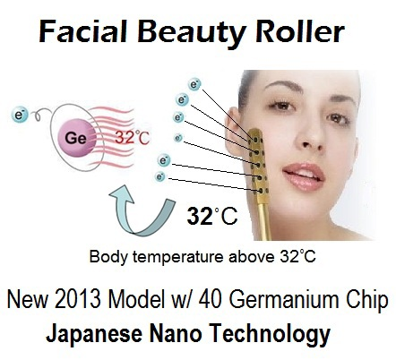 New 2013 Facial Roller Japanese Nano Beauty Anti-aging Skin Masager Wand
