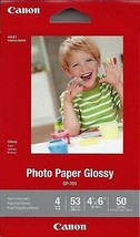 "Canon GP-701 Photo Paper Glossy 4"" x 6"" - 50 Sheets - $6.92"