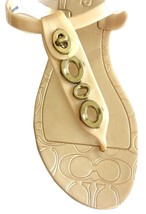 Coach Phila Jelly Gold Flat Thong Sandal Shoe 6 - $125.00