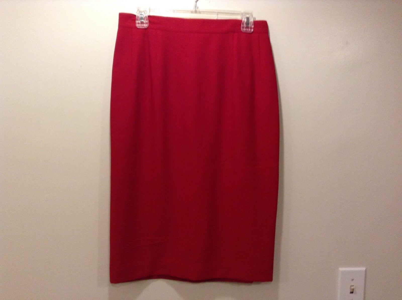 Amanda Smith II Red Evening Skirt Sz 14W