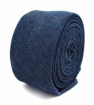 Frederick Thomas blu scuro jeans 100% LINO CRAVATTA da uomo ft2053
