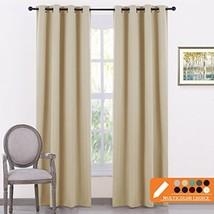 PONY DANCE Beige Curtains Panels - Window Treatments Room Darkening Curt... - $43.90