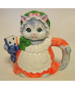 Grey Female Cat Teapot Hermitage Mint LTD Collectibles - $35.63
