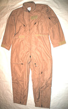 NEW GENUINE US AIR FORCE TAN NOMEX FIRE RESISTANT FLIGHT SUIT CWU-27/P -... - $113.85