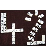 dominoes Double Six Ivory/Spinner OVERSIZE Free... - $21.95