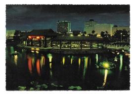 Rizal Park Philippines Manila Chinese Garden Pavilion Night Vntg 4X6 Pos... - $6.69