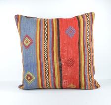 24x24'' large kilim pillow big pillow decorative pillow cover large cushion case - $32.00