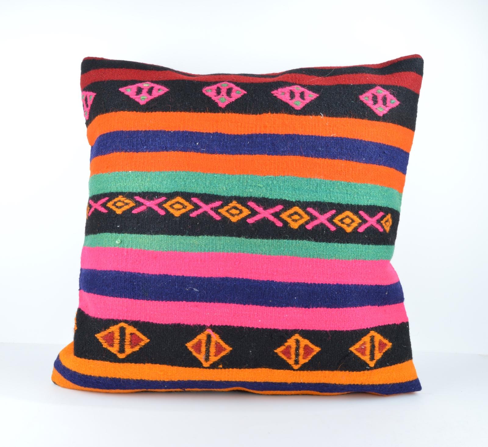 Big Throw Pillow Covers : 24x24 large kilim pillow big pillow decorative pillow cover large cushion case - Pillows