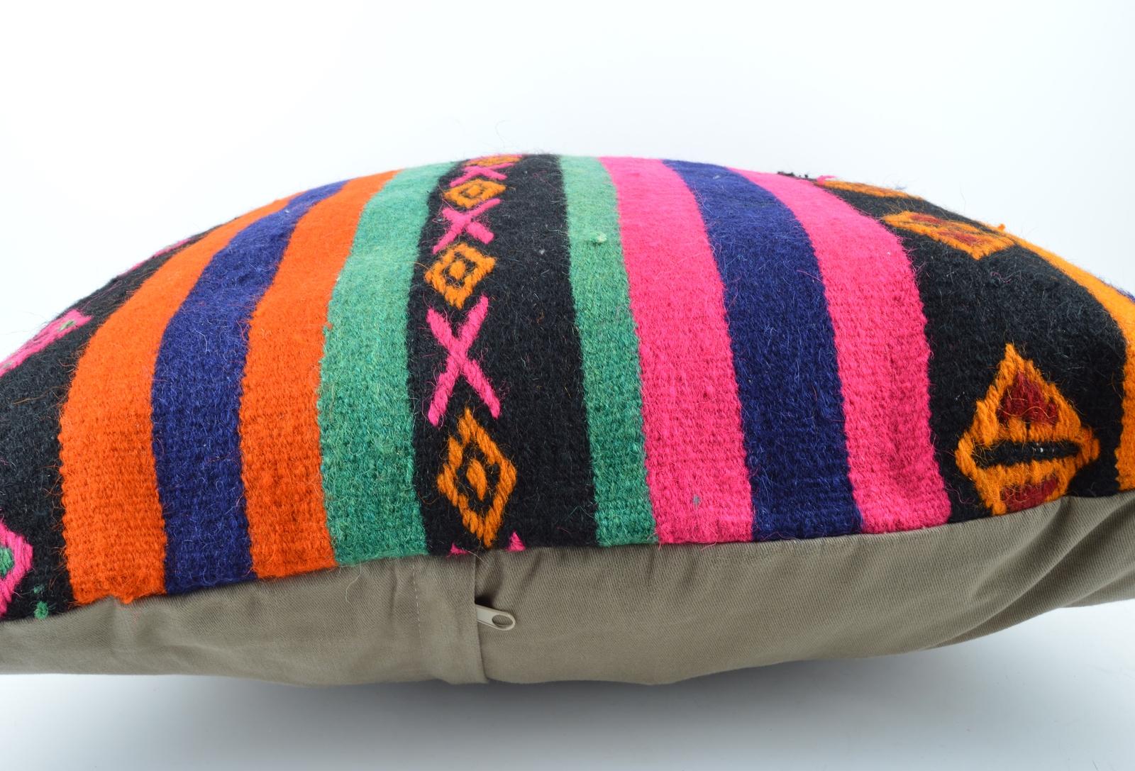 24x24'' large kilim pillow big pillow decorative pillow cover large cushion case