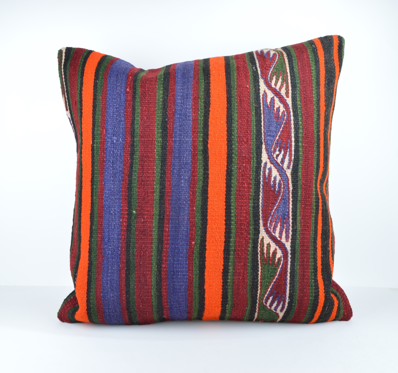 24x24 large kilim pillow big pillow decorative pillow cover large kilim cushion - Pillows
