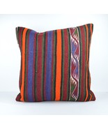 24x24''large kilim pillow big pillow decorative pillow cover large kilim... - $75.00