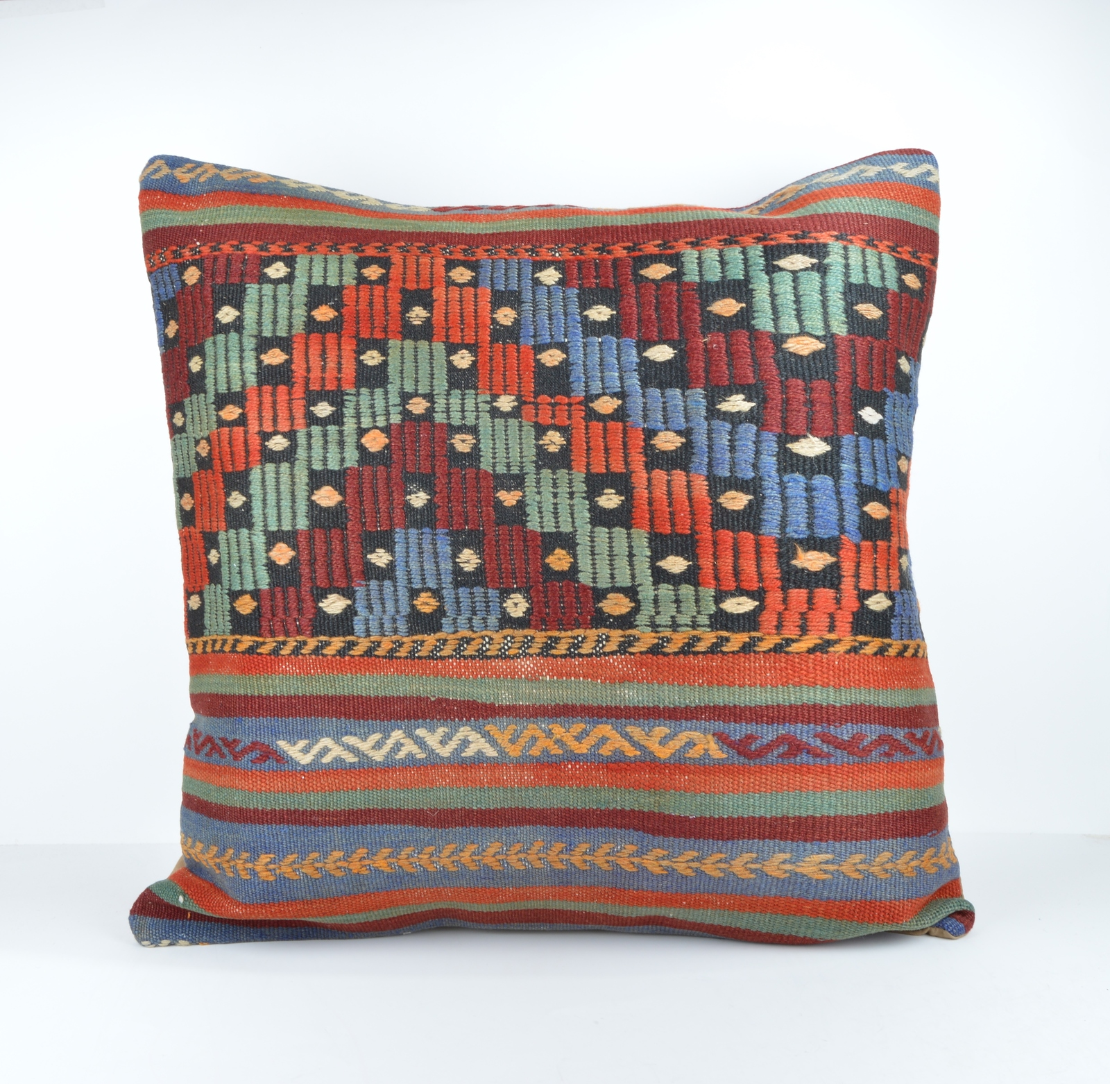 Big Throw Pillow Covers : 24x24 large kilim pillow big pillow decorative pillow cover large cushion case - Pillowcases
