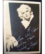JEAN HARLOW (AUTOGRAPH 1930,S PHOTO) - $494.01