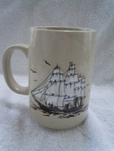 Mid Century Modern Raised Ceramic Ship Mug - $2.99